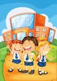 Ungar framme av skolan Royaltyfria Bilder