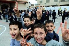Ungar i den Rammallah skolan Royaltyfria Foton