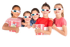 Ungar i filmerna Fotografering för Bildbyråer