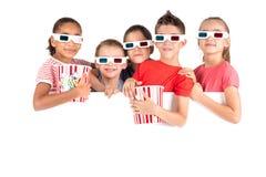 Ungar i filmerna Royaltyfria Foton