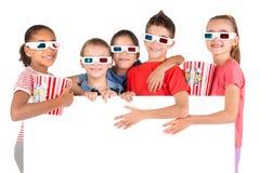 Ungar i filmerna Royaltyfria Bilder