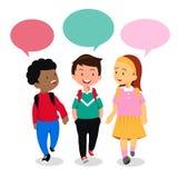 Ungar i konversation vektor illustrationer