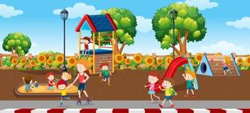 Ungar i plagroundplats vektor illustrationer
