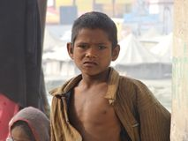 Ungar i Rishikesh arkivfoto