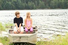Ungar i stakbåt Arkivbilder