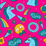 ungar mönsan seamless stock illustrationer