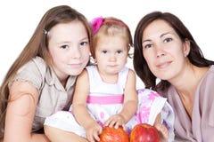ungar mother över white Royaltyfria Bilder