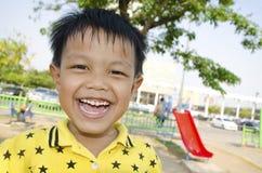 Ungar på lekplatsen Royaltyfria Bilder