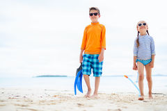 Ungar på stranden Royaltyfria Foton
