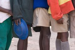 ungar school zimbabwean Fotografering för Bildbyråer