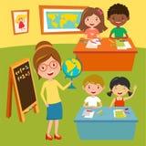 Ungar skolar eller behandla som ett barn klubbakurser vektor illustrationer