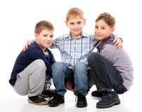 Ungar som har gyckel Royaltyfria Foton
