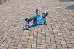Ungar som spelar block Royaltyfri Fotografi