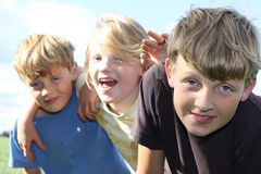 ungar tre Royaltyfria Bilder
