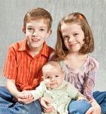 ungar tre Arkivbild