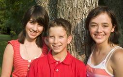 ungar tre Arkivbilder