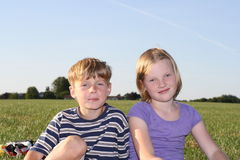 ungar två Arkivbild