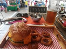 Ungarianhamburger stock afbeelding