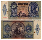 Ungarische Banknote der Weinlese ab 1941 Stockbilder