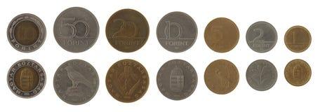 Ungarische Münzen getrennt auf Weiß Lizenzfreies Stockfoto