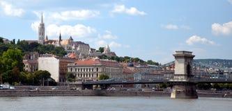 Ungarische Marksteine von der Donau in Budapest Lizenzfreie Stockbilder