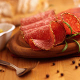 Ungarische Salami stockfotografie