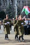 Ungarische Soldaten in der Uniform Stockbild