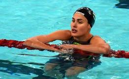 Ungarischer HUNNE Schwimmer Zsuzsanna JAKABOS Lizenzfreies Stockfoto