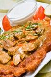 Ungarischer Kartoffelpfannkuchen Lizenzfreies Stockfoto