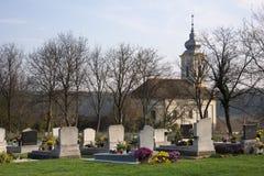 Ungarischer Kirchhof Stockbild