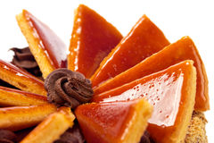Ungarisches Dobos torte - Kuchen Stockfotografie