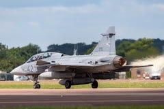 Ungarisches multirole Kampfflugzeug Luftwaffen-Ungarisch Legiero SAAB JAS-39D Gripen lizenzfreies stockfoto