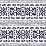 Ungarisches nahtloses Muster Stockbild