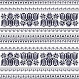 Ungarisches nahtloses Muster Stockbilder