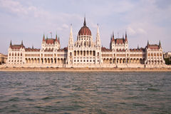 Ungarisches Parlament in Budapest, Ungarn Stockbild
