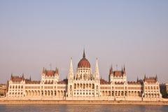 Ungarisches Parlament in Budapest, Ungarn Stockfotografie