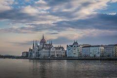 Ungarisches Parlament in Budapest, Ungarn Lizenzfreies Stockfoto