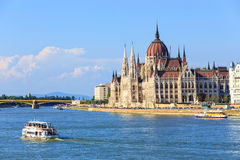 Ungarisches Parlament am 24. Juli 2014 Lizenzfreies Stockfoto