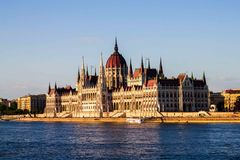 Ungarisches Parlaments-Gebäude Lizenzfreies Stockbild