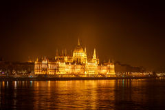 Ungarisches Parlaments-Gebäude Budapests Stockfotografie