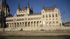 Ungarisches Parlaments-Geb?ude in Ungarn und in Budapest stock video footage
