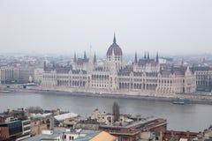 Ungarisches Parlamentsgebäude Stockfotografie