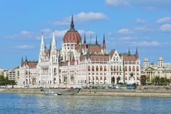 Ungarisches Parlamentsgebäude in Budapest Lizenzfreie Stockfotos