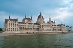 Ungarisches Parlamentsgebäude in Budapest Stockfotos