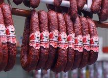 Ungarisches salame Stockfotografie