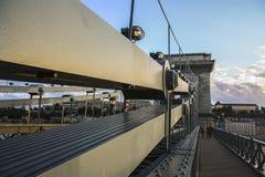 ungarn Budapest hat es Elemente des Baus einer Brücke über der Donau Stockfoto