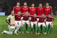 Ungarn gegen Andorra-Fußballspiel Stockfoto