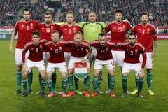 Ungarn gegen die Niederlande Endspielfußballspiel 2016 der Norwegen UEFA-Euronäheren bestimmung Lizenzfreies Stockbild