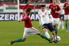 Ungarn gegen die Niederlande Endspielfußballspiel 2016 der Norwegen UEFA-Euronäheren bestimmung Stockbilder