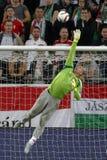 Ungarn gegen die Niederlande Fußballspiel 2016 der Rumänien UEFA-Euronäheren bestimmung Stockfotos